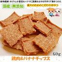 【国産 無添加】手作り鶏肉&バナナチップス60g【果物/