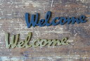 Welcome【真鍮文字】【ウェルカムプレート】【真鍮 アルファベット】【真鍮 表札】【真鍮 サインプレート】