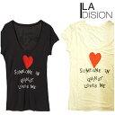 【SALE■メール便可】LA DISION ラディション Quincy クインシー Tシャツ 全2色 半袖【再入荷なし/現品限り】セール