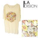 【SALE■メール便可】LA DISION ラディション スマイル フラワー Tシャツ・チュニック 【再入荷なし/現品限り】セール