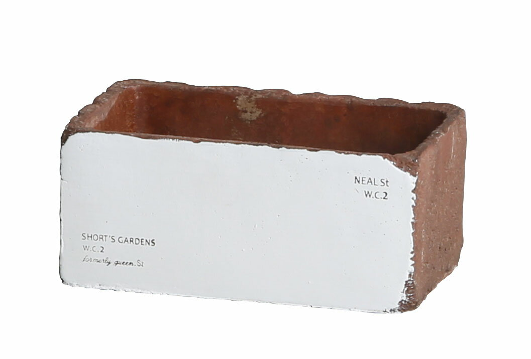 【WIN-007-BR】ストラーダ・レクトポット(Lサイズ)ブラウン☆シンプルでかわいい植木鉢♪