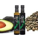 【ポイント5倍】オーガニックオイル食べ比べセット アボカドオイル&ヘンプオイル【麻の実油】 250ml×2本セットニュージーランド産100%の、無農薬栽培実から絞った天然のオイル。食べるほど身体の中からキレイになるオイルです。