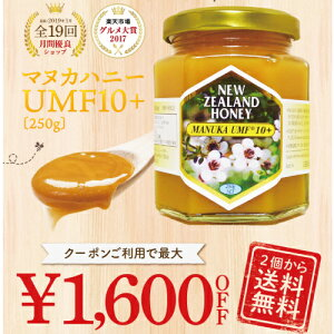 【最大1,600円OFFクーポン】マヌカハニー 10+ 250g (M