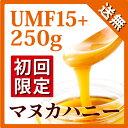 【初回限定お試し価格】 マヌカハニー UMF 15+ 250g 【おひとり様一回限り最大4ビンま