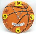 バスケ好き・サッカー好きの方に 立体 バスケットボール サッカーボール クロック 掛け時計 直径30cm