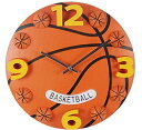 バスケ好きの方に 立体 バスケットボールクロック 掛け時計 ...