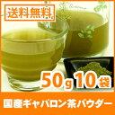 国産 ギャバロン茶パウダー 50g x 10袋 < GABA ギャバ 緑茶 粉末 血圧測定 > 送料無料 /セ/