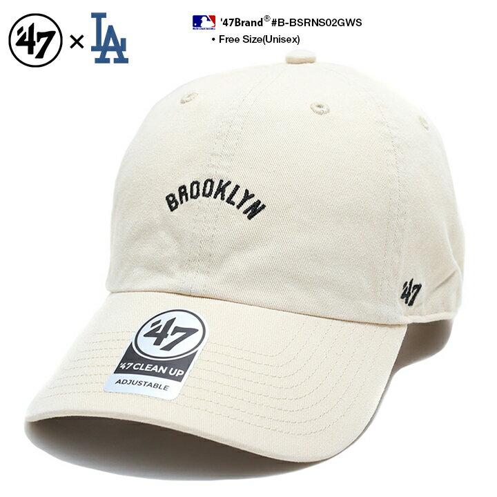 47 帽子 ローキャップ ボールキャップ 【B-BSRNS02GWS】 フォーティーセブンブランド 47BRAND ロサンゼルス ブルックリン ドジャース 旧ロゴ クーパーズタウンコレクション オフホワイト CAP MLB 公式 メジャーリーグ 大リーグ 刺繍 ストリート系 メンズ ギフト