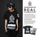 b系 ヒップホップ ストリート系 ファッション メンズ レディース Tシャツ 【AF-TS-TS-014】≪SPADE PAISLEY TEE≫ ACEFLAG エースフラ…