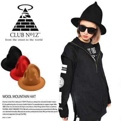 【送料無料】b系ヒップホップストリート系ファッションメンズレディースキャップ【CN-CA-HT-008】≪WOOLMOUNTAINHAT≫クラブノイズCLUBNO1Zマウンテンハットファレルでか帽黒赤キャメルFサイズ(男女兼用)正規品P08Apr16【楽ギフ_包装】