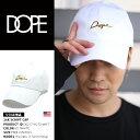 【送料無料】b系 ヒップホップ ストリート系 ファッション メンズ レディース ローキャップ 【D0217-H270-WHT】 ドープ DOPE CAP 帽子 ...