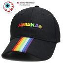 ショッピング帽子 ミシカ MISHKA 帽子 キャップ ローキャップ ボールキャップ CAP メンズ レディース 黒 b系 ヒップホップ ストリート系 ファッション ブランド レインボーカラー 虹色 ロシア語 刺繍 ライン かっこいい おしゃれ パンク ロック バンド系 アジア限定 ギフト MSS193203