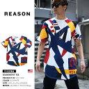b系 ヒップホップ ストリート系 ファッション メンズ レディース Tシャツ 【545-1020】 リーズン REASON カラー 幾何…