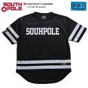 サウスポール SOUTH POLE フットボールシャツ ホッケーシャツ ゲームシャツ 半袖 メンズ 黒 L XL 2L LL 2XL 3L XXL 3XL 4L XXXL 大きいサ...