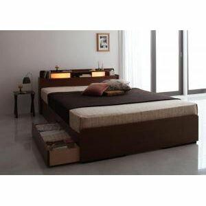 ●ポイント5倍●【ベッド】棚・照明付き収納ベッド...の商品画像