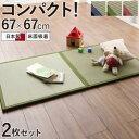 ●ポイント5.5倍●出し入れ簡単 床面吸着 軽量ユニット畳 Hanabishi ハナビシ 2枚セット[4D][00]