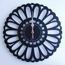 ●ポイント10倍●掛け時計 Marguerite ブラック YK13-102 【代引不可】 [01]