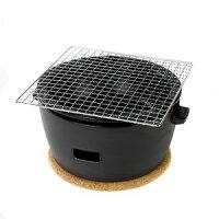 ●ポイント10倍●水コンロ ロロ LOLO 炭焼き水コンロ セット 大サイズ 陶器製 黒【代引不可】 [01]の画像