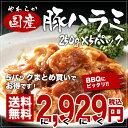 【送料無料】チルドやわらか国産豚ハラミ味付250g×5パック