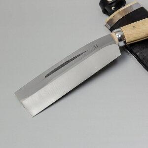 ◆本場土佐◆火造り鉈『最高級』【腰ナタ片刃】白紙鋼150mm