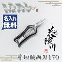 【花隈川】ミニ芽切鋏 両刃 170mm (芽切ばさみ 芽切りハサミ 摘花ばさみ) 名入れ