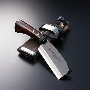 ベーシック【黒打腰鉈両刃】白紙鋼120mm