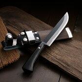 アウトドアナイフ 剣鉈 黒打 白紙鋼 150mm 東周作 オイルステン仕上 ケース付き