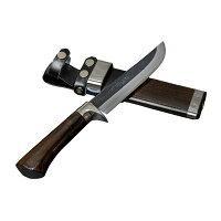 剣鉈 狩猟用 青紙鋼黒打洋漆仕上 5寸 東周作 (狩猟ナイフ 剣ナタ ハンティングナイフ)の画像
