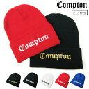 COMPTON×HOOD LUCK オリジナル コンプトン COMPTON ニット帽 ニット フッドラック ヘッドウエア