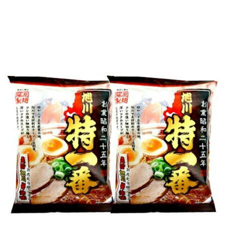 送料無料 ご当地ラーメン 北海道 醤油 ラーメン 旭川 人気店 特一番 価格 600円 旭川醤油 2個セット