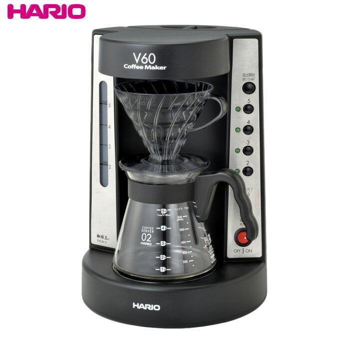 HARIO(ハリオ)NEW V60珈琲王コーヒーメーカー 実用容量750ml/2〜5杯用 ドリッパーの色:透明ブラック