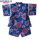 ダブルB【DOUBLE B】花火&ハイビスカス柄♪甚平スーツ(80cm・90cm)(80cm・90cm)