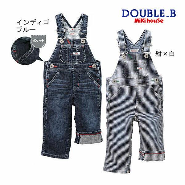 f0a755bb9a6e1 S(70-80cm) M(80-90cm) インディゴブルー(33) カーキ(37) 紺×白(51) ダブルB DOUBLEB デニム☆ ...