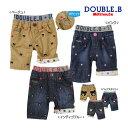 ダブルB【DOUBLE B】Bigフェイス&プチ刺繍7分丈パンツ(100cm・110cm)[5,00