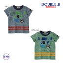 ミキハウス ダブルビー mikihouse カレッジロゴプリントの半袖Tシャツ(140cm)