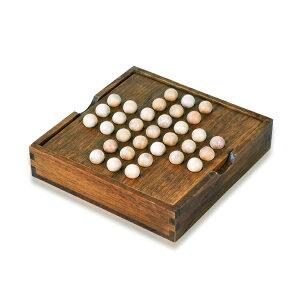 ペグソリティア ブラウンカラー 一人遊び 木製ボード