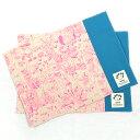森のおはなし 蛍光ピンク ランチョンマット(2枚セット)お名前シール付 オールハンドメイド!安心の日本製 HOPPE(ホ…