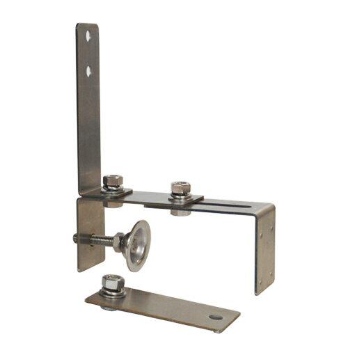 カーブミラー(ガレージミラー)小型専用(はさみ込み)クランプ取付金具ステンレス製サビない