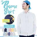 【送料無料】◆綿麻パナマ織ストレッチシャツ◆長袖シャツ シャツ メンズ カジュアルシャツ