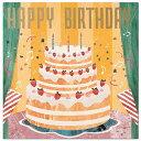 バースデーカード レコードミュージックカード ケーキ B138-19 学研ステイフル レコードが回ってメロディが流れる誕生日カード Birthday Card グリーティングカード お誕生お祝い 立体カード メール便可 (ZR)