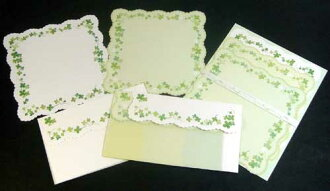 Two kinds of clover letterset four leaves die cut letter paper envelopes enter! CREATE G CORPORATION CGL154