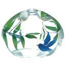 ガラス風鈴 バルーンびーどろ風鈴 夏鳥 R-183 会津喜多方 蒔絵仕上げ 手作り風鈴 木之元