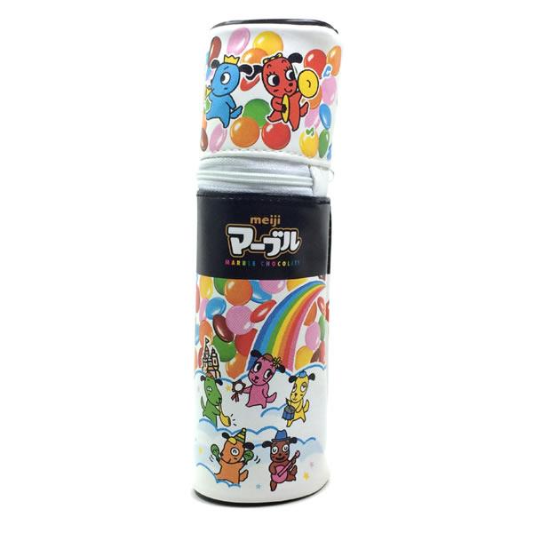 おやつマーケット 筒型ペンポーチ 明治 マーブル 40222701 ペンケース/筆入れ サカモト/sakamoto