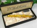 大西製作所 セルロイド万年筆 スチールペン先 ゴールド柄 2010-1221-2