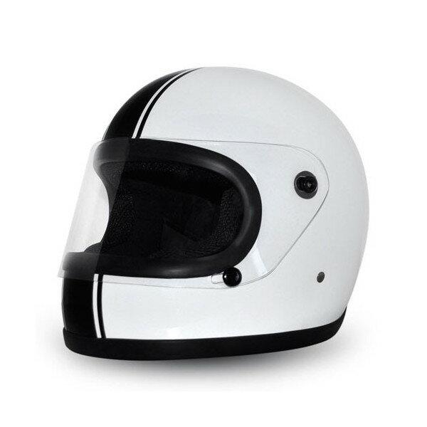 """RETRO RIDE""WHITE&BLACK PIN STRIPE/レトロライド/検索用ワード(族ヘル、ビンテージヘルメット、BUCOブコ、レーサー)"