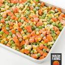 有機 JAS オーガニック 冷凍 ミックスベジタブル 250g x 4 合計 1kg ヨーロッパ産 野菜ミックス冷凍野菜 無糖 無添加 化学物質不使用 砂糖不使用 冷凍野菜