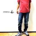 【送料無料】ETERNAL エターナル テーパードスキニー 5ポケットデニムパンツ 日本製 メンズ 52202 USED加工