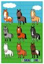 馬のイラストレーターおがわじゅりポストカード〜UMA9IKU〜馬が9頭で・・・ウマクイクヽ(^◇^*)/【メール便(ネコポス)可】