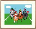 額付きイラスト 〜GO!ケイバ〜馬のイラストレーター おがわじゅり 直筆サイン入り送料無料