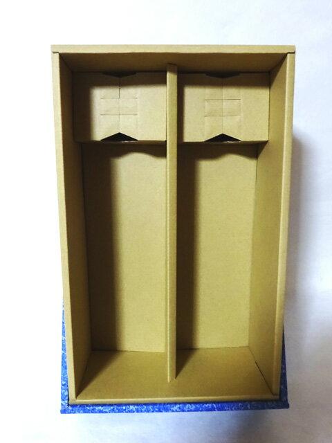 贈答用化粧箱 4合瓶2本用(青・ワインレッド)の紹介画像2